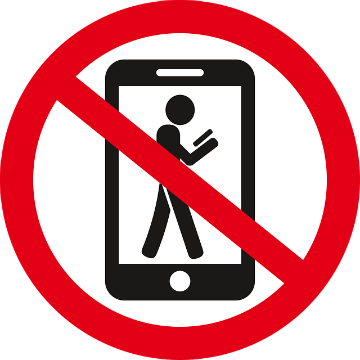Using of cell phone is not allowed when operating forklift
